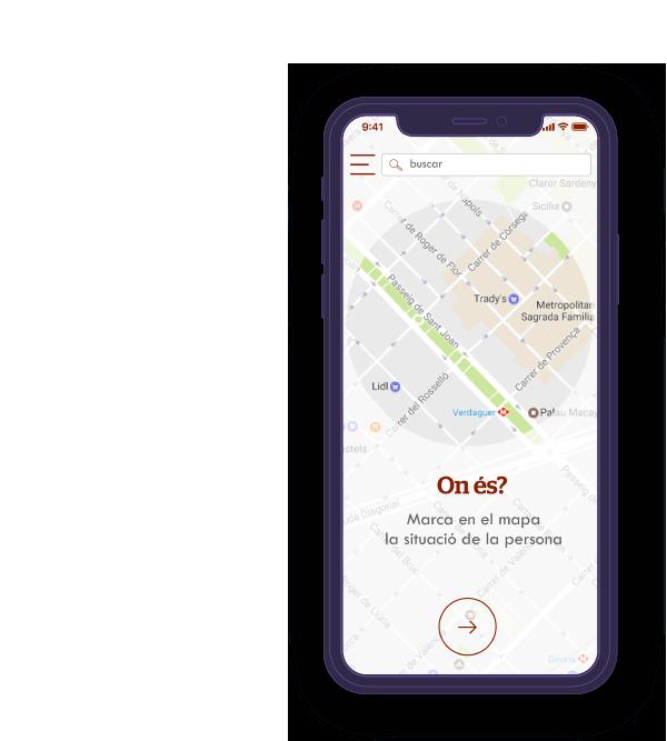 Pantalla móvil de la app Arrels Fundació