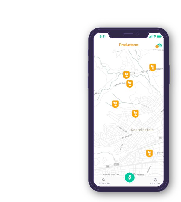 Pantalla móvil 2 de la app Ecolocal de Basetis