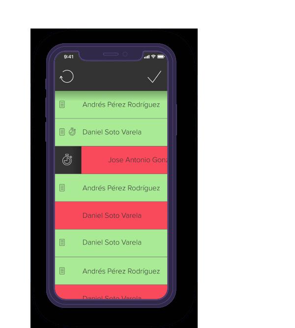 Pantalla móvil de la app de Sport2Live