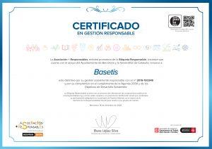 Etiqueta Responsable Basetis