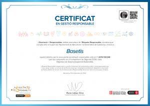 Certificat d'etiqueta responsable atorgat a Basetis